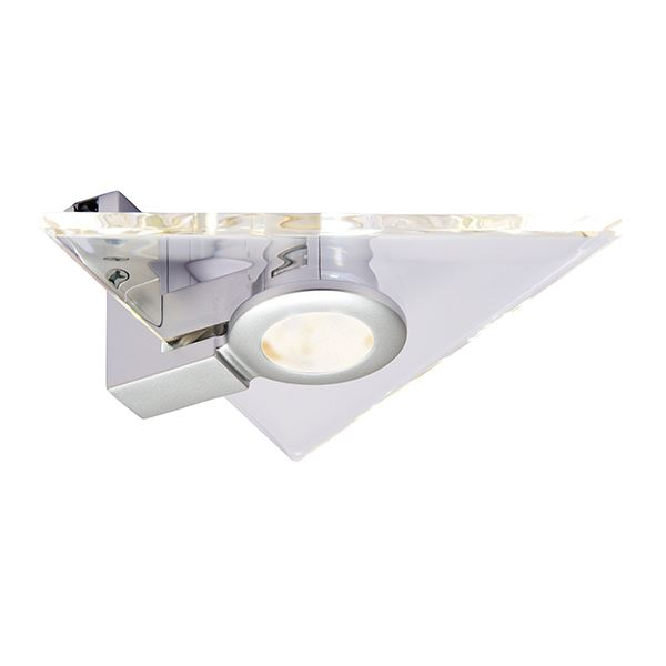 Saxby Aether Silver Triangle Design LED Kitchen Under Cabinet Add On Accessory
