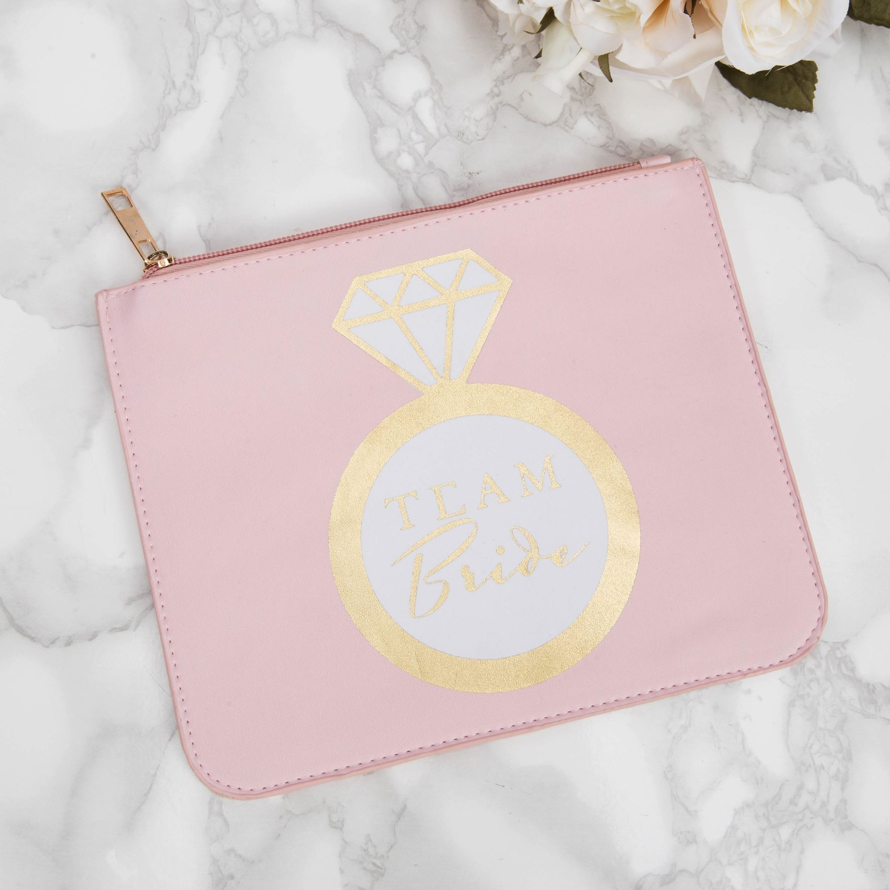 Bridal Shower Pink Leatherette Cosmetic Bag