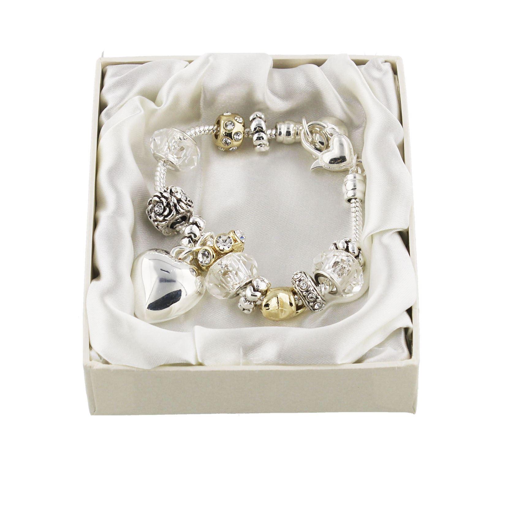 Amore Silver/Gold Bead Charm Bracelet - Bridesmaid