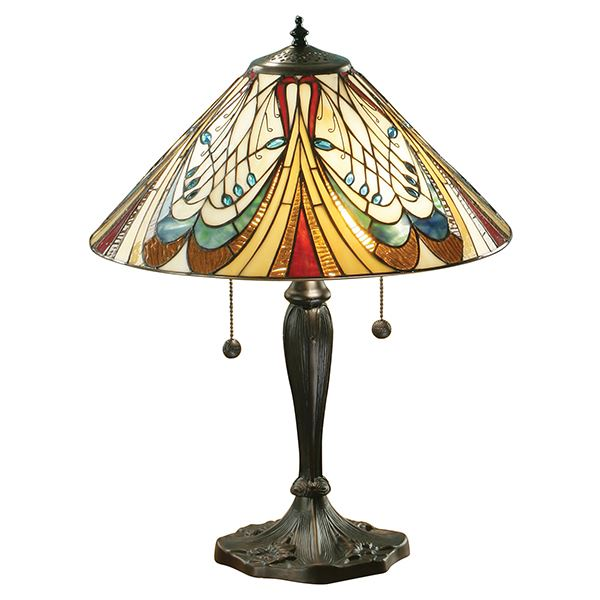 Tiffany Style Hector Table Lamp With Pull Chain Switch 60W