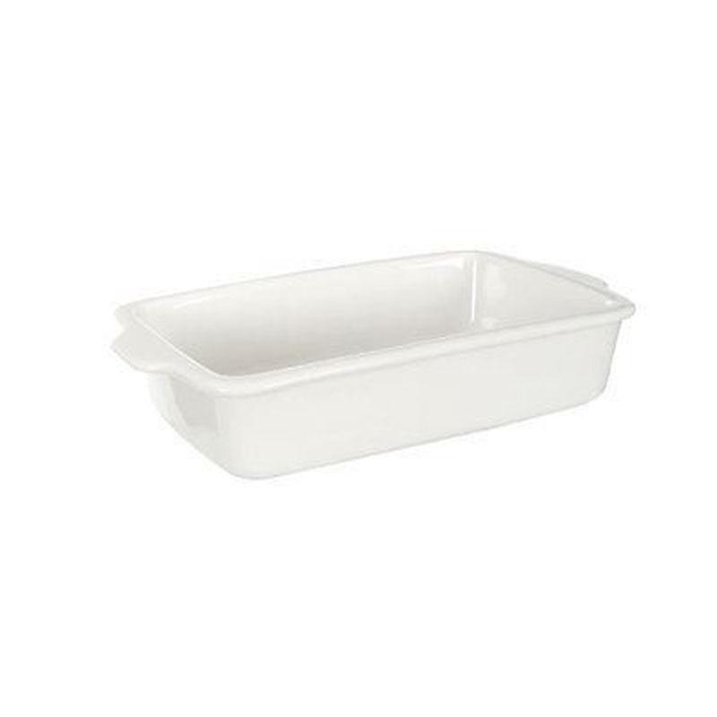 Dish,White Stoneware