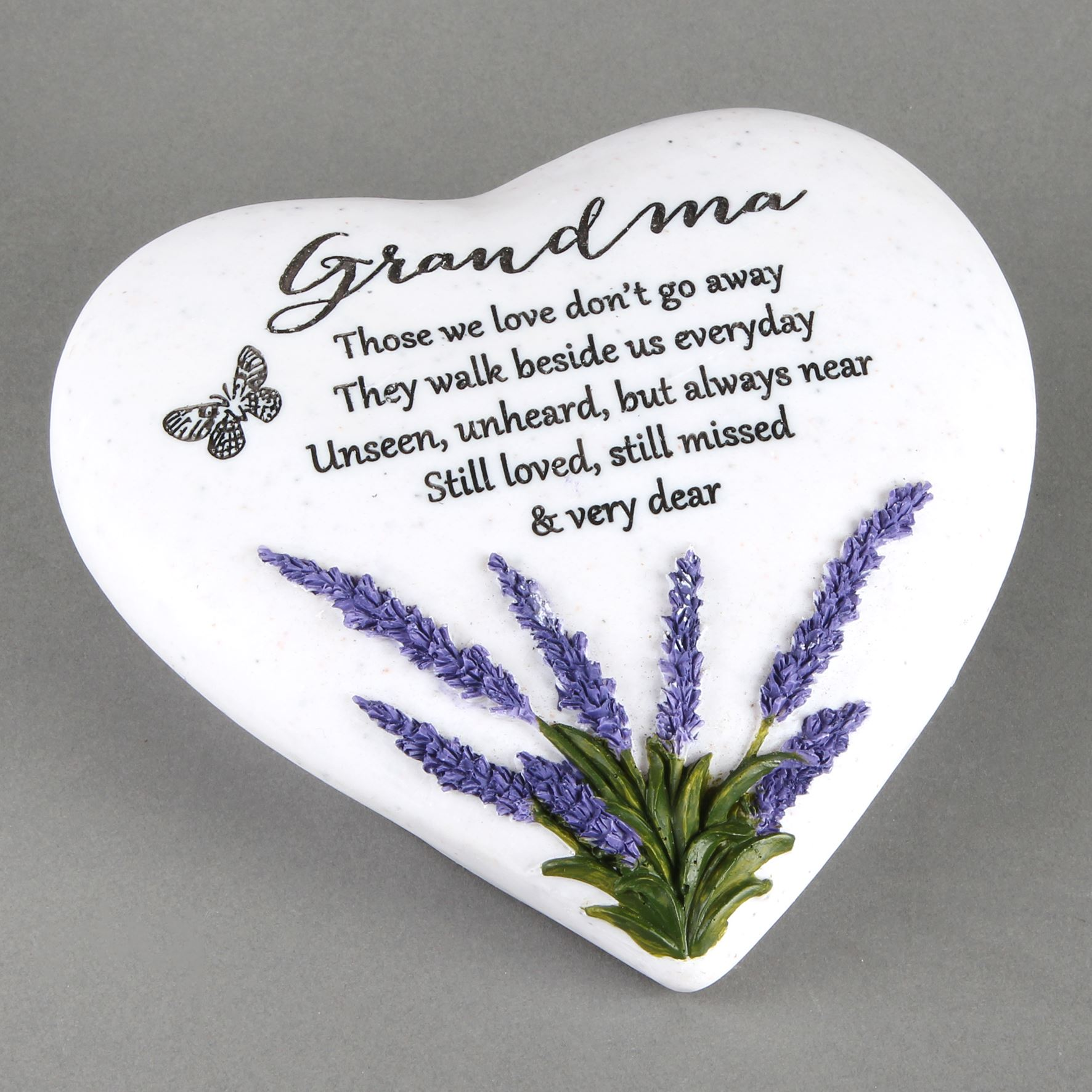 Thoughts of You Heart Stone / Lavender - Grandma