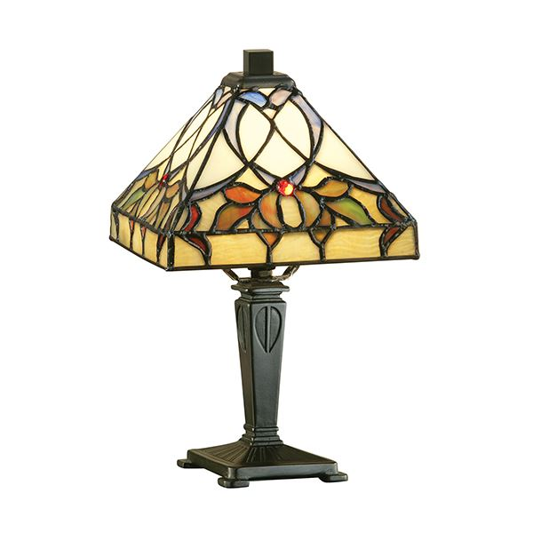 Alcea Mini Tiffany Style Table Lamp - Interiors