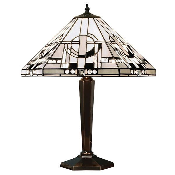 Metropolitan Tiffany Style Antique Patina Table Lamp - Interiors