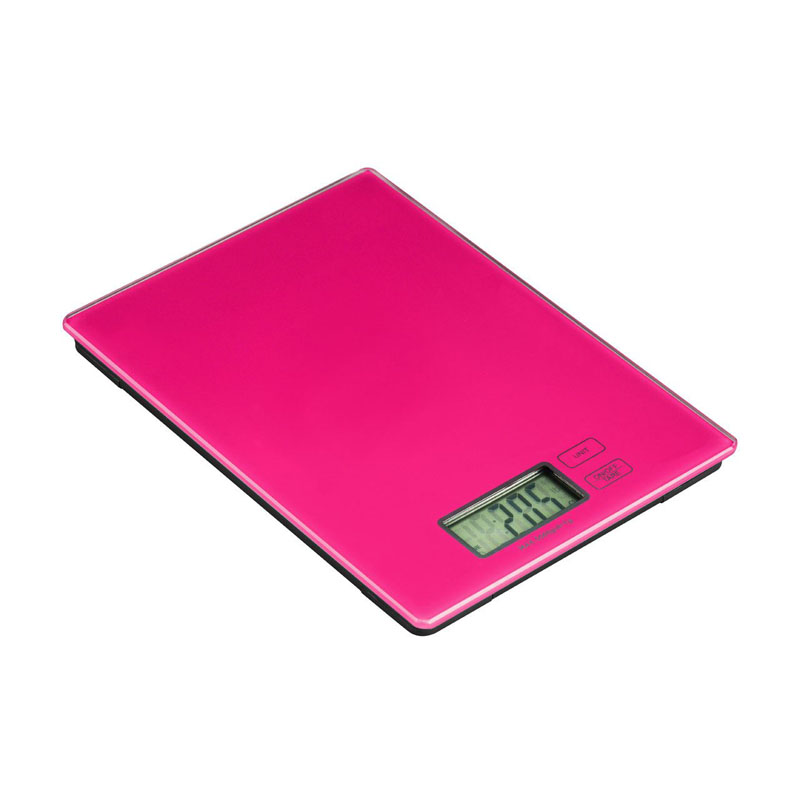Zing Kitchen Scale,Hot Pink Glass,Electronic 5Kg