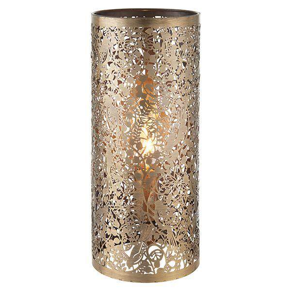 Secret Garden Steel Table Lamp 40W SW - Antique Brass Finish