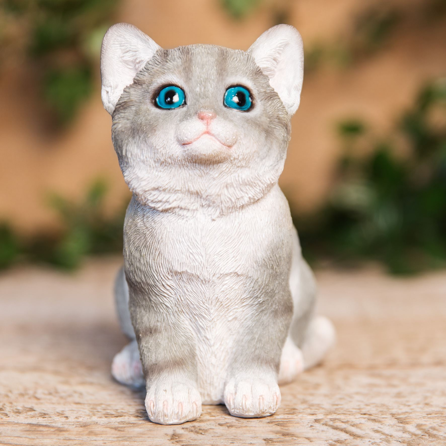 Best Of Breed Collection - Grey & White Kitten Figurine - Best Of Breed