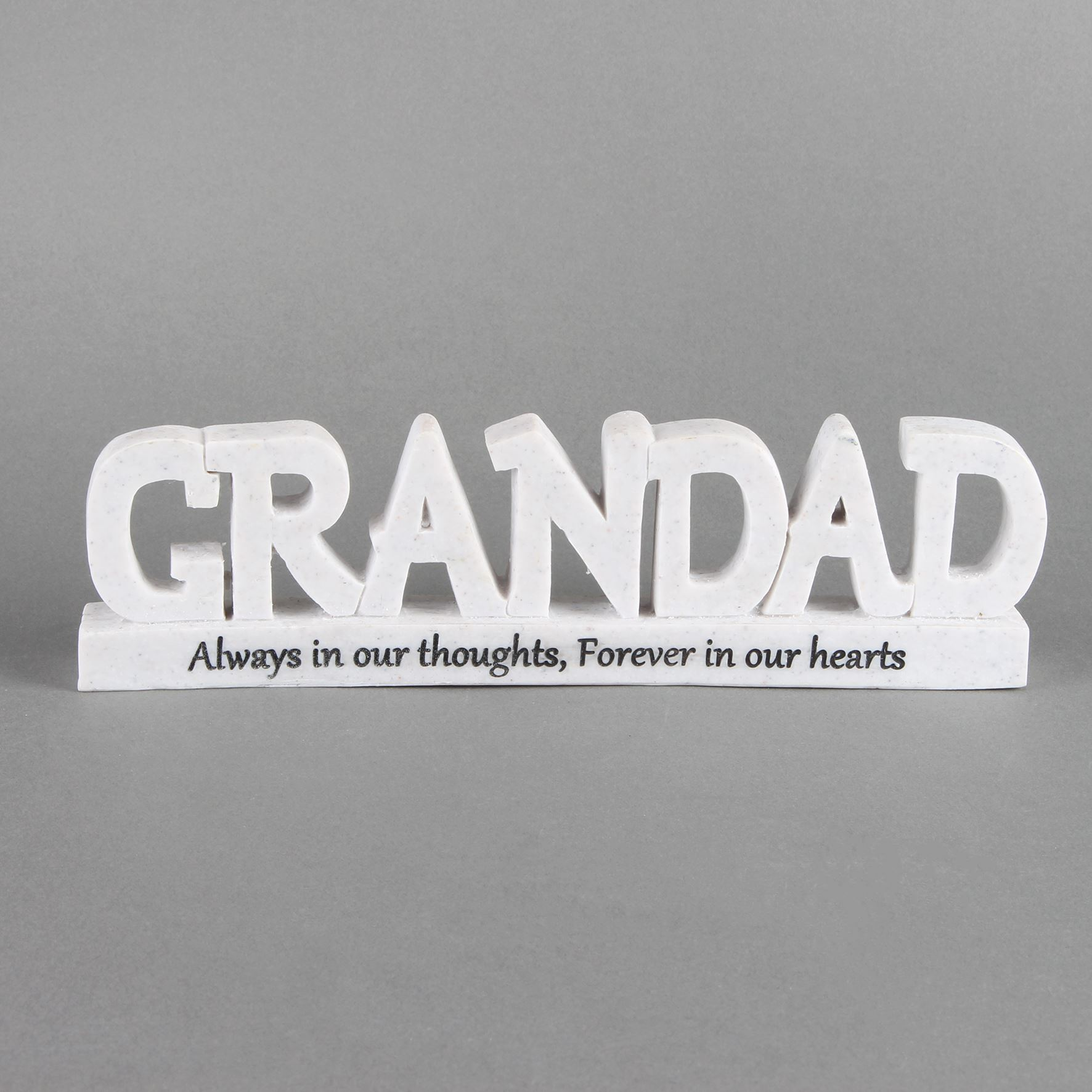 Thoughts of You Memorial 3D Words - Grandad