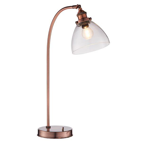 Hansen Task Table Lamp 40W SW - Aged Copper Base