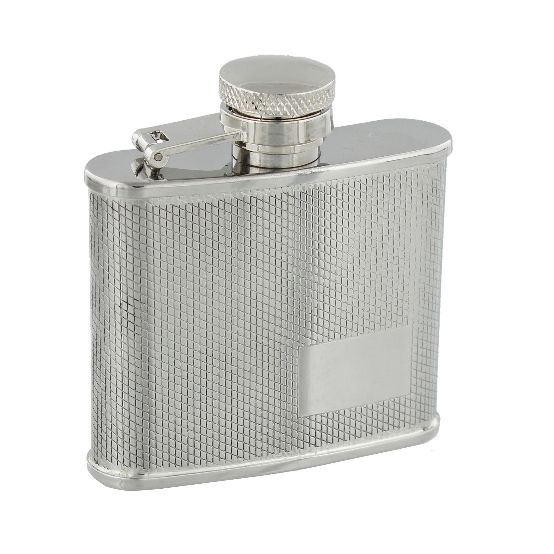 Harvey Makin 2Oz Debossed Hip Flask With Engraving Space