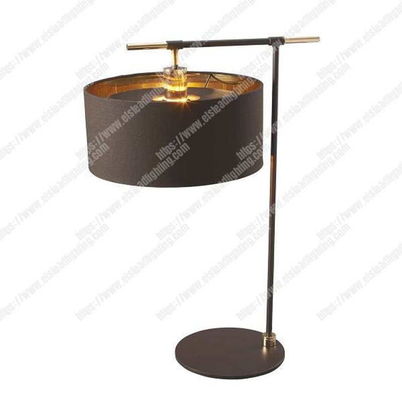 Balance 1 Light Table Lamp - Brown and Polished Brass