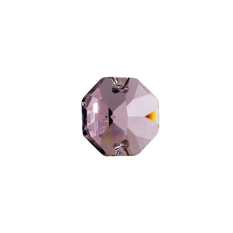 Crystal Octagon Without Ring Lilac 14Mm