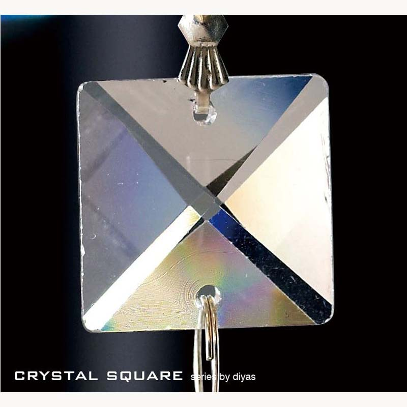 Crystal Square Without Ring Clear 22Mm