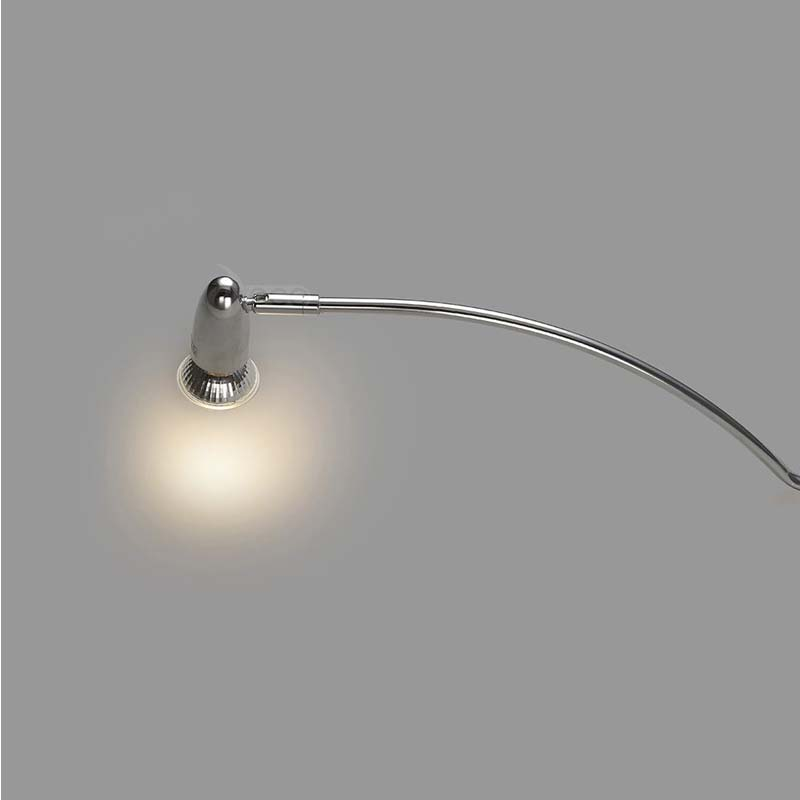 Satin Nickel Lex Over Cabinet 1 Light 2m Clear Cable With Adjusbale Head
