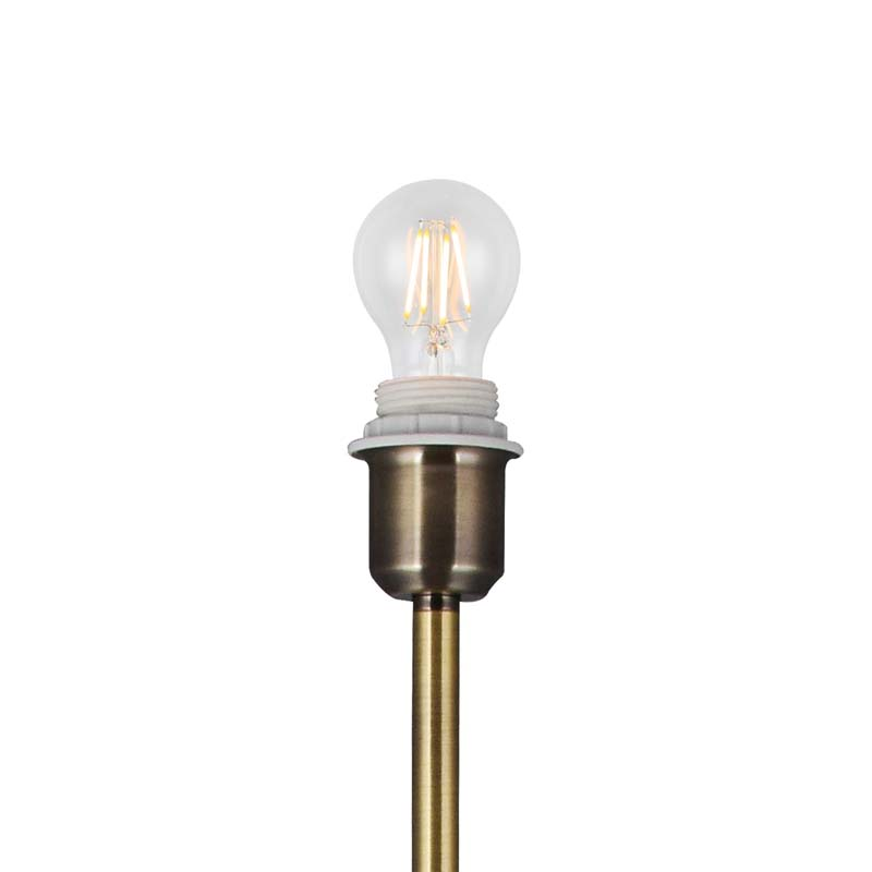 Unique Design Antique Brass 1 Light Round Curved Base Floor Lamp Without Shade