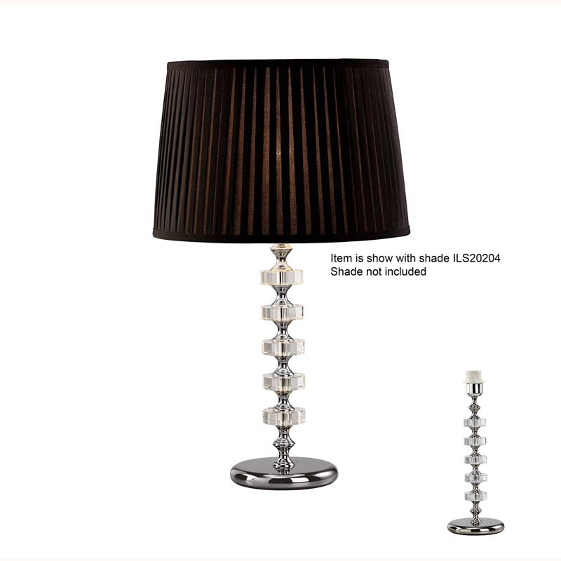 Crystal Table Lamp Without Shade 1 Light Silver Finish - Home Lighting