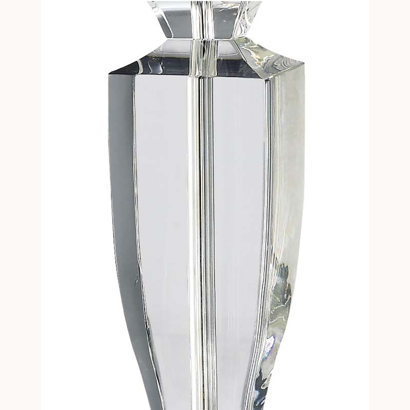 Decorative Crystal Table Lamp Without Shade 1 Light Silver Finish