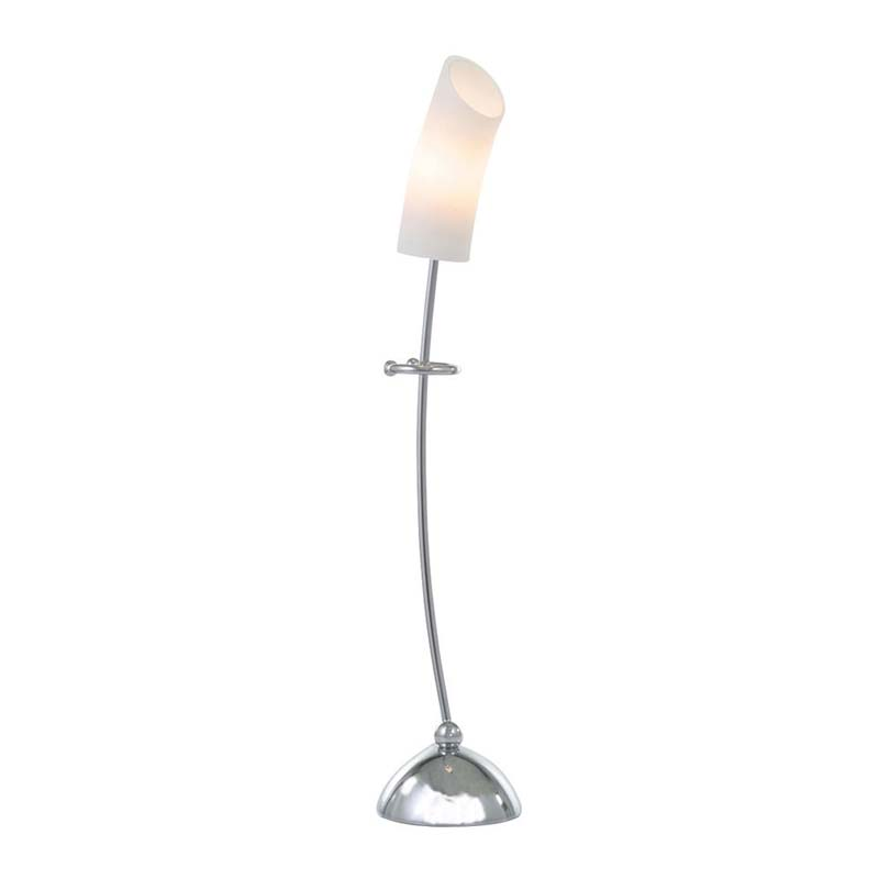 Table Lamp With In-Line Switch 1 Light Stylish Opal Glass Shade