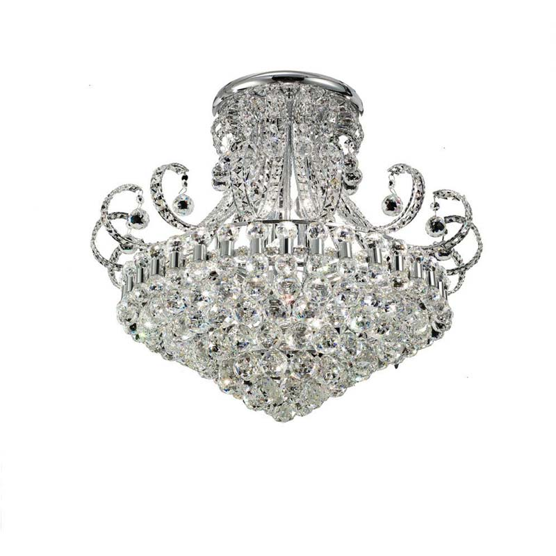 Pearl Ceiling Round 12 Light Polished Chrome/Crystal