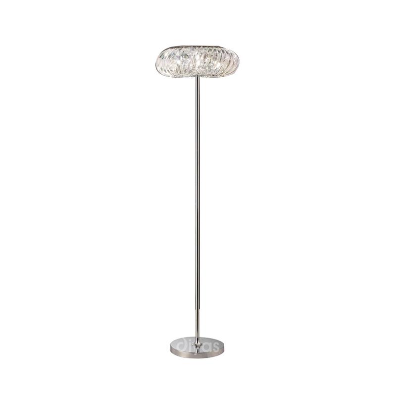 Banda Floor Lamp 6 Light Polished Chrome/Crystal