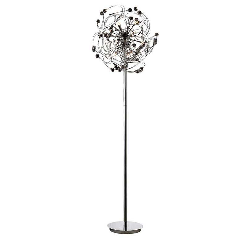 Messe Floor Lamp 12 Light Polished Chrome/Crystal