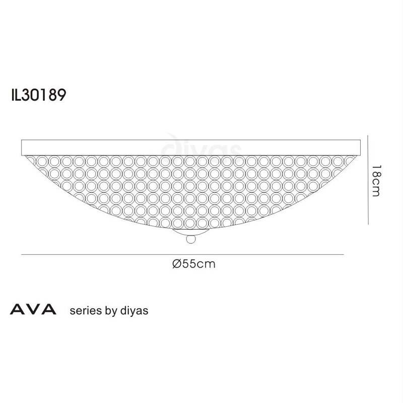 Ava Ceiling 9 Light Polished Chrome/Crystal