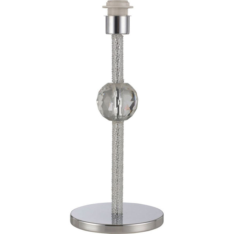 Chrome/Crystal Modern Style Table Lamp Without Shade 1 Light Polished