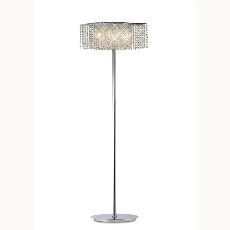 Fabio Floor Lamp 4 Light Polished Chrome/Crystal