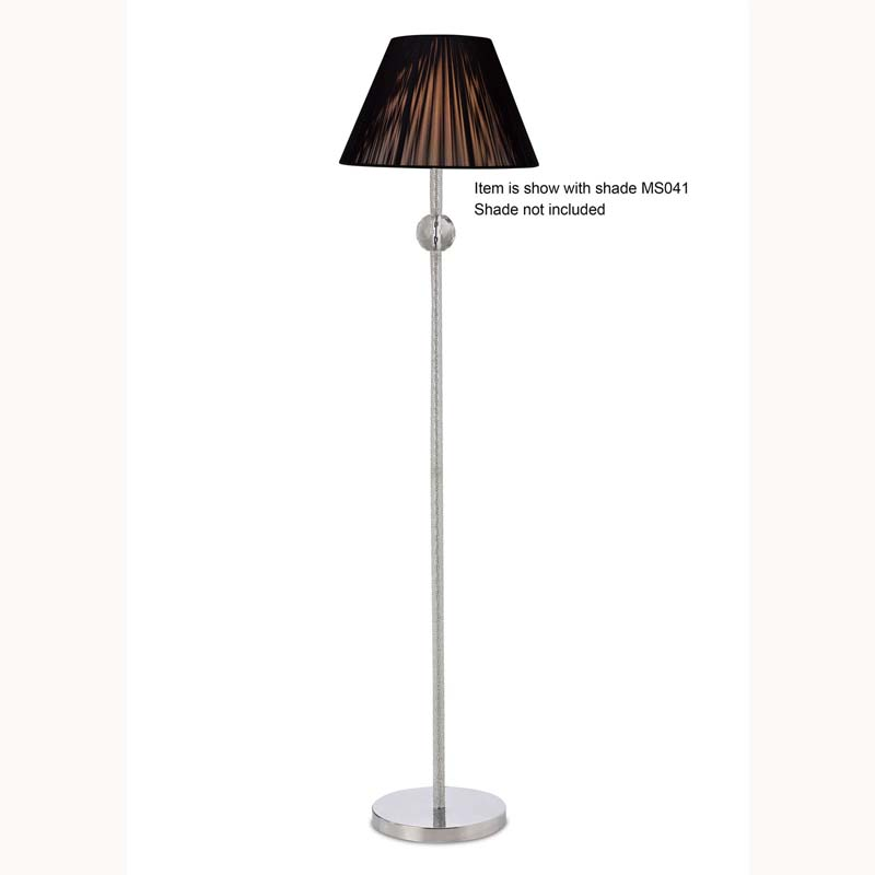 Elena Floor Lamp Without Shade 1 Light Polished Chrome/Crystal