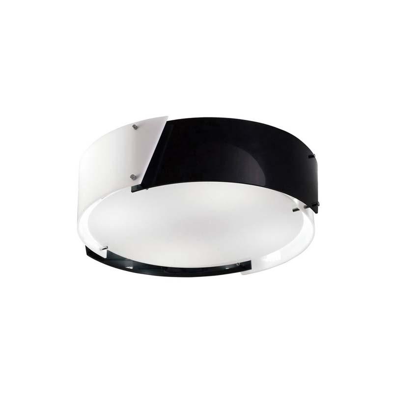 Dakota Ceiling Small 4 Light Black & White Acrylic