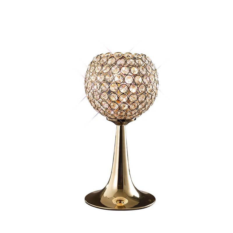 Table Lamp 2 Light French Gold/Crystal - Pendant Style Home Decoration