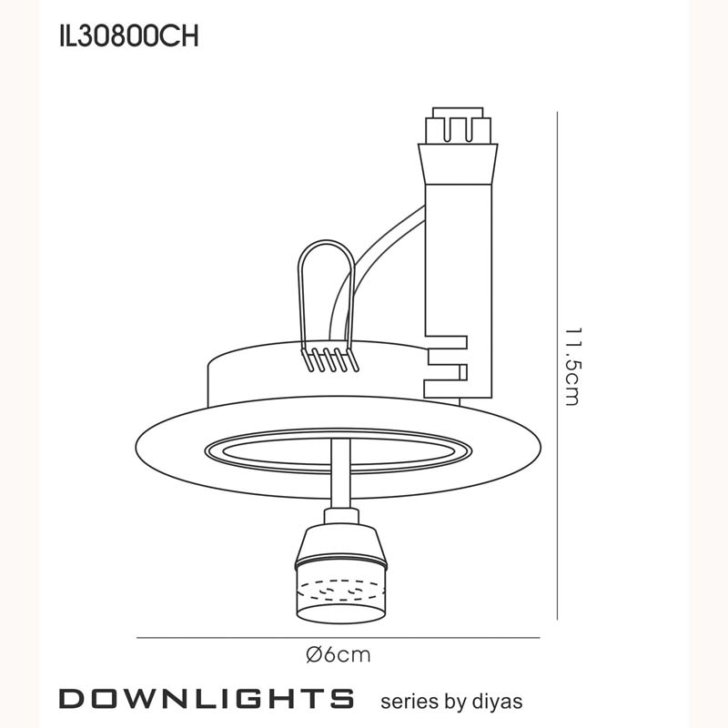 Downlight Component Kit Lampholders And Retaining Ring