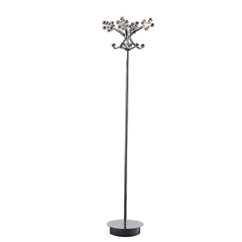 Octavia Floor Lamp 4 Light Polished Chrome/Crystal