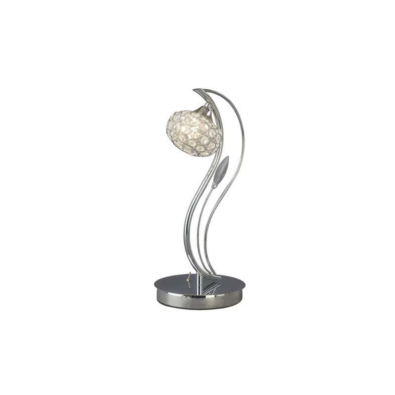 Crystal Table Lamp 1 Light Polished Chrome - Living Room Lighting
