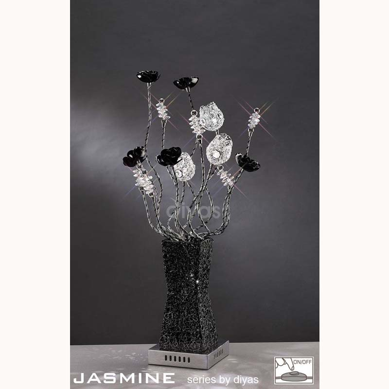Decorative Aluminium Vase Table Lamp With 4 Light / Crystal - Home Decor