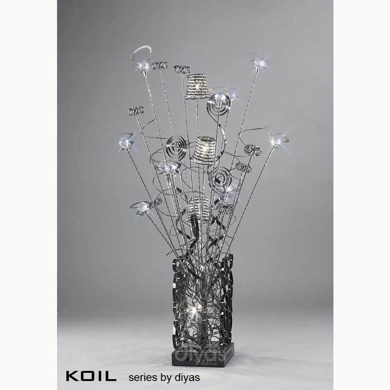 Modern Style Aluminium 4 Light Black Table Lamp - Living Room Decor