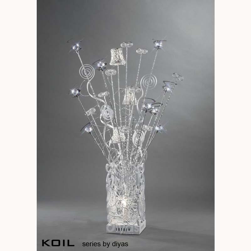 Modern Style Aluminium 4 Light White Table Lamp - Living Room Decor