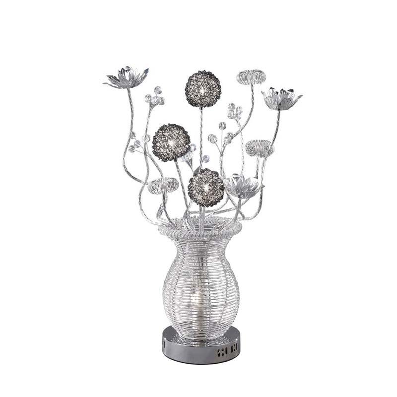 Calisto Decorative 4 Light Silver/Black Table Lamp - Acrylic Balls