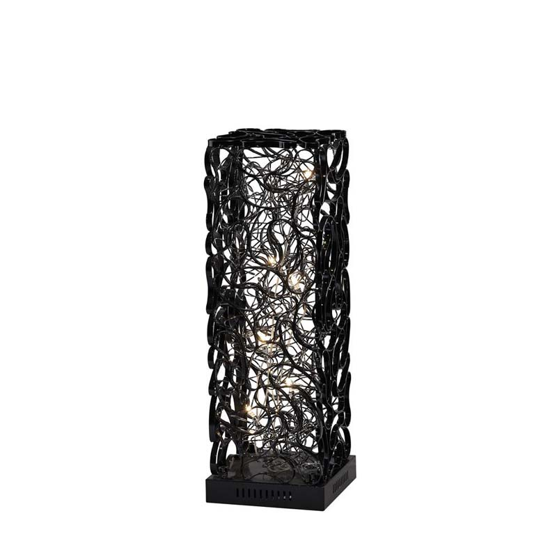 Essen Modern Style 6 Light Black/Silver Table Lamp Stunning Design