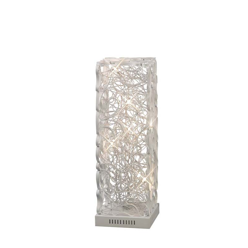 Essen 6 Light White/Silver Metalwork Table Lamp - Lighting Decor