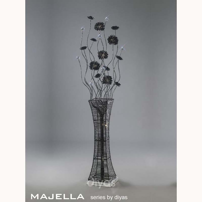 Majella Floor Lamp 7 Light Polished Chrome/Black/Silver/Crystal