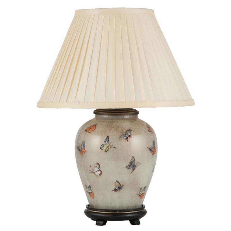 Butterflies On Small Urn Table Lamp