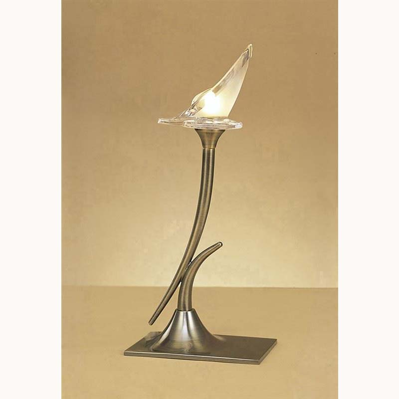 Decorative Antique Brass 1 Light Table Lamp - Modern Design