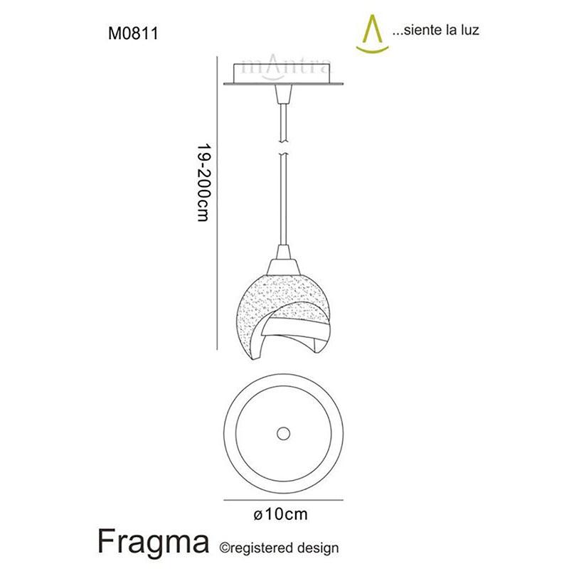 Fragma Pendant 1 Light Polished Chrome
