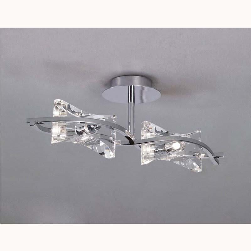 Chromo semi ceiling 2 light polished chrome