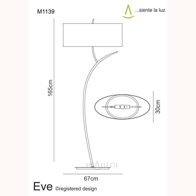 Eve Floor 2 Light Polished Chrome With White Shade