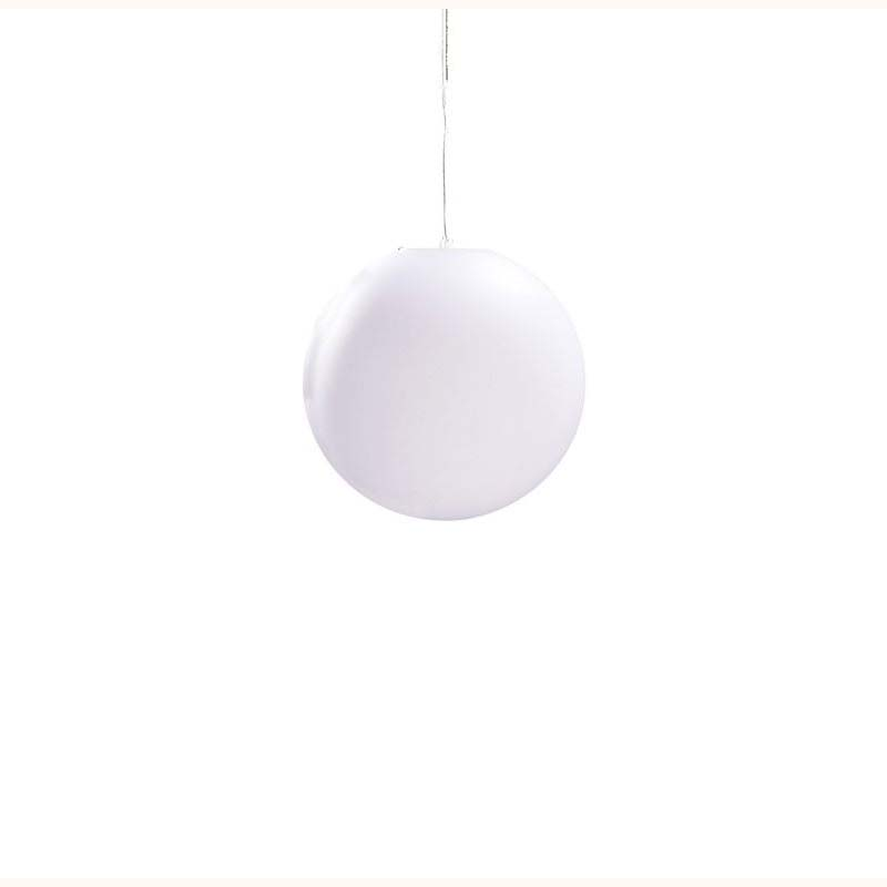 Huevo Small Ball Pendant 1 Light Outdoor White