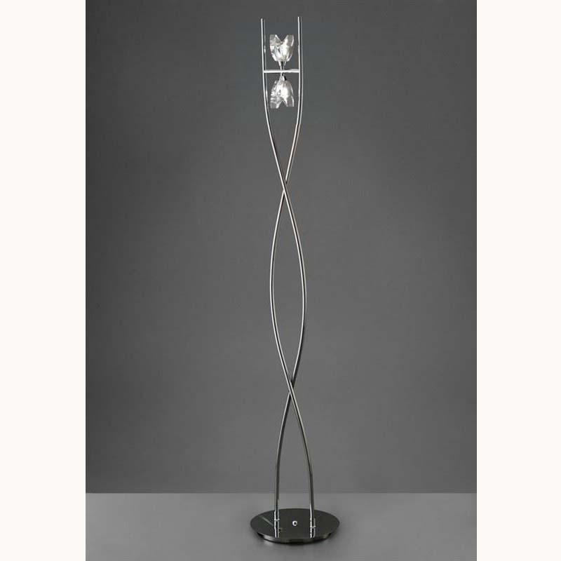 Eclipse Floor Lamp 2 Light Polished Chrome