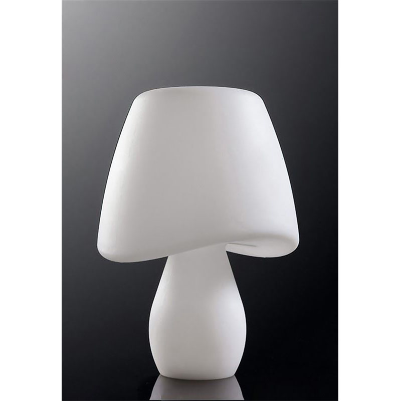 Designer White Table Lamp 2 Light Indoor Outdoor Use/In-Line Switch