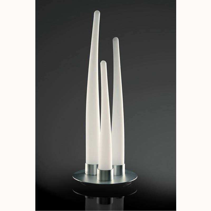 Escalate Table Lamp 3 Light Silver/Opal White Indoor - Smooth Curves